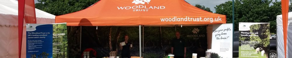 Woodland Trust stand and marquee at a show