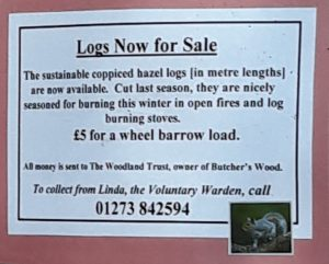 Logs for sale advert