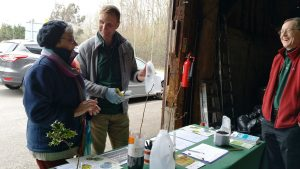 Volunteers talking about Seeds to Trees project