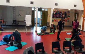 Lead Volunteers learning First Aid