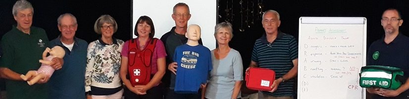 Lead Volunteers fro Langley Vale Wood at First Aid course