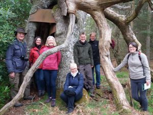 Verifiers with a hanging tree at Strathallan Castle