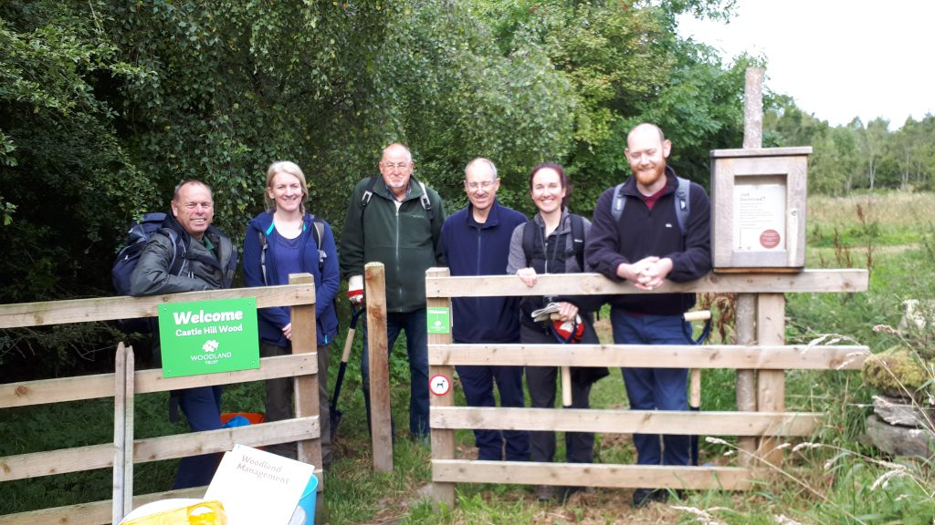 Volunteer Team at Castle Hill Wood.