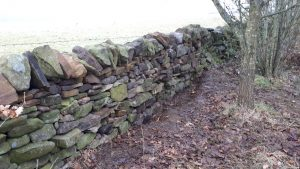 The finished wall repair
